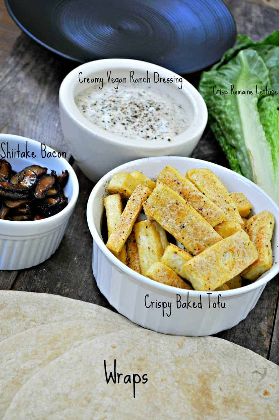 Vegan Tofu Bacon Ranch Wraps Rabbit And Wolves