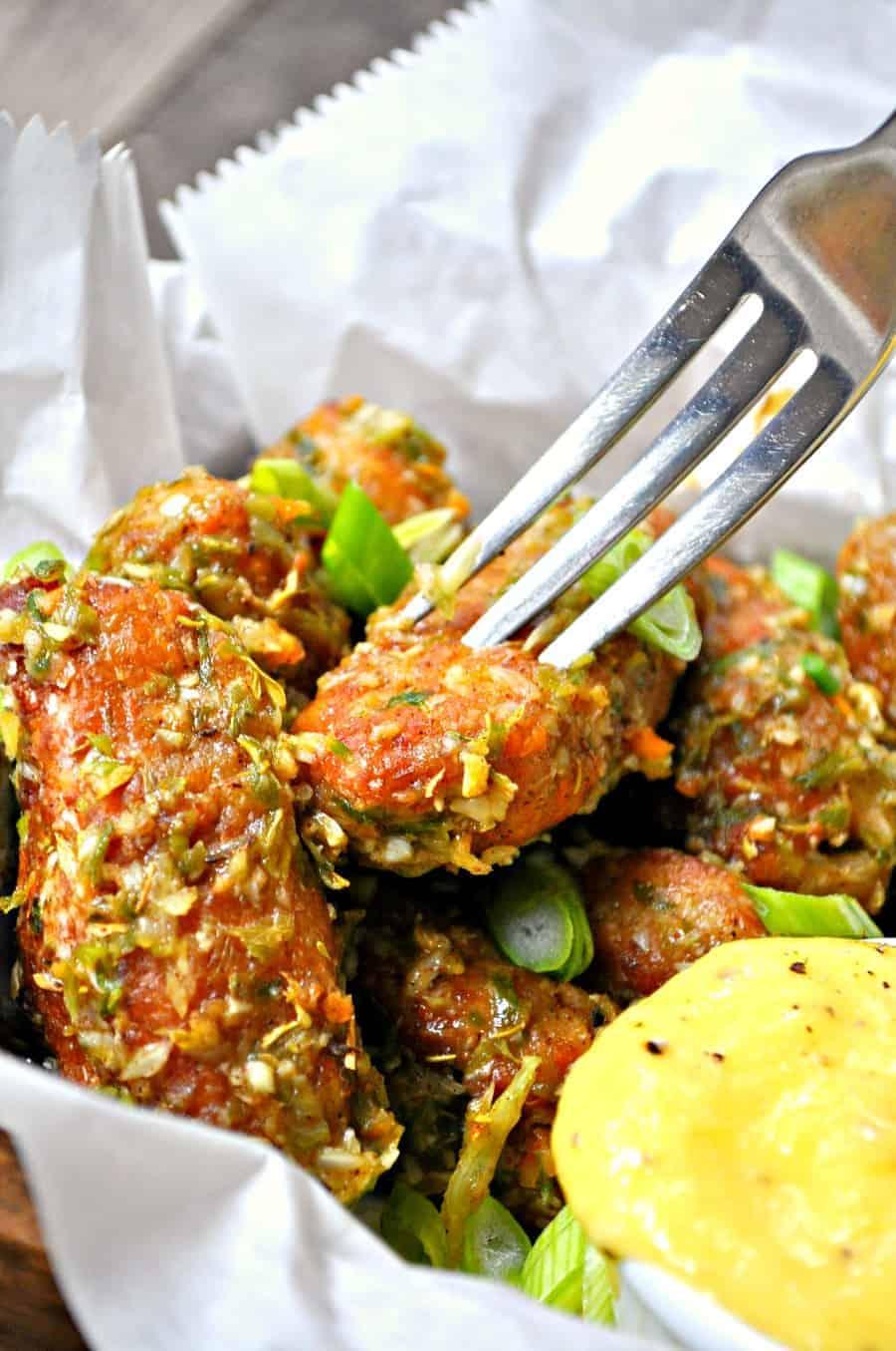 Vegan Jerk Chickpea Wings with Sweet Mango Dip
