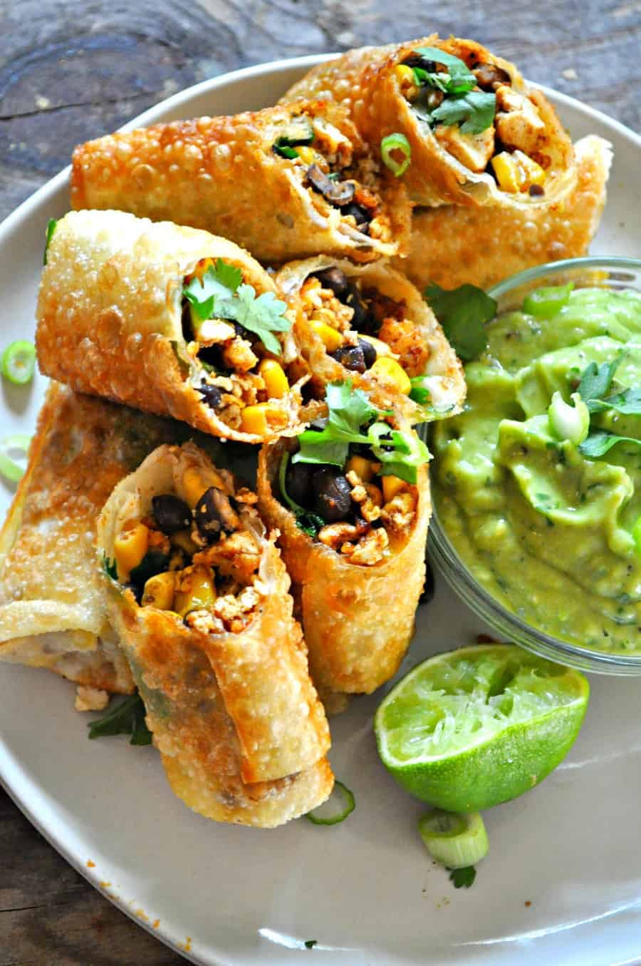 Vegan Tex Mex Egg Rolls Rabbit And Wolves
