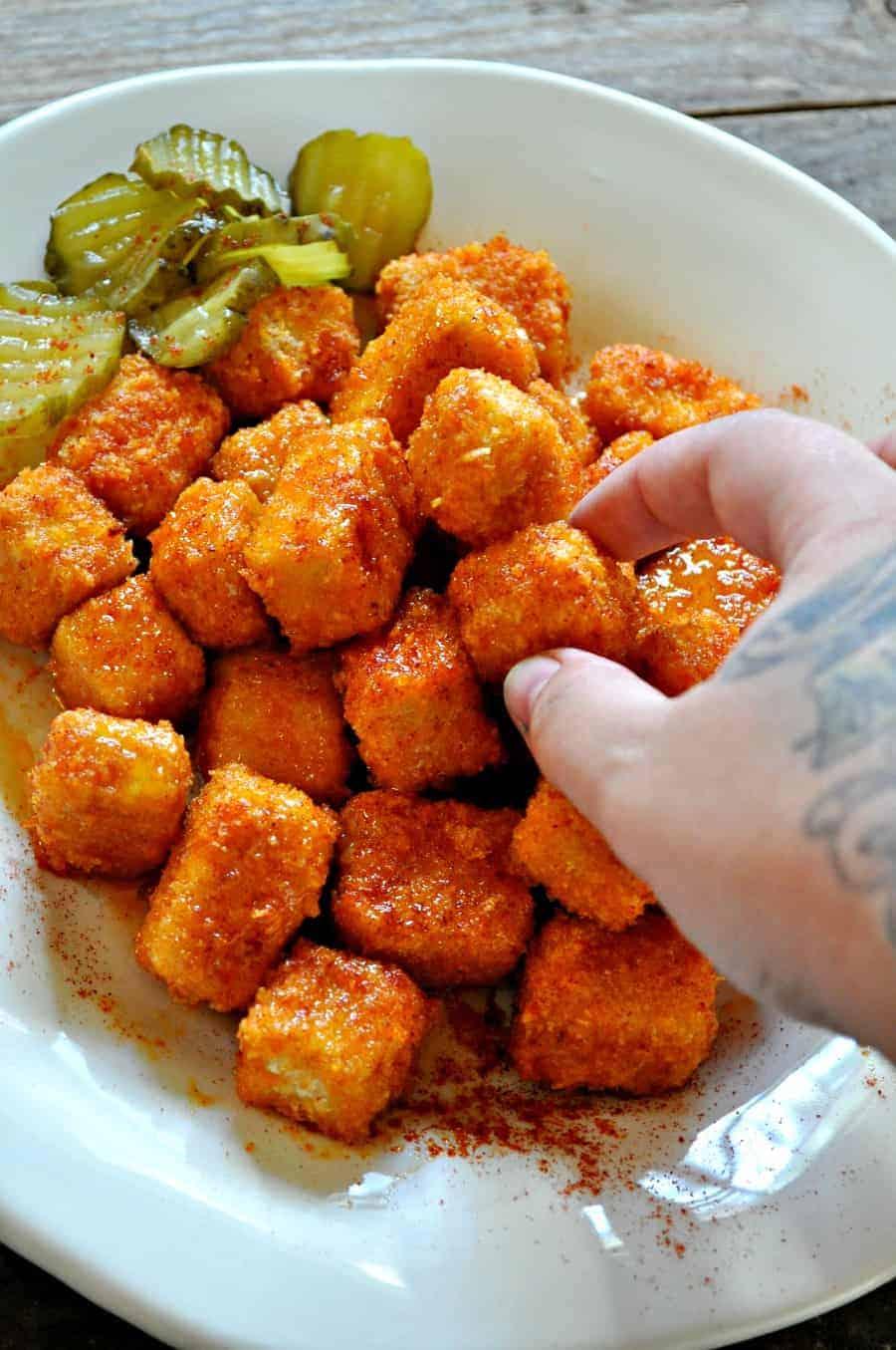 Vegan Nashville Hot Tofu Nuggets Rabbit And Wolves