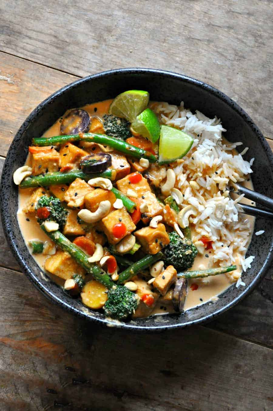 Vegan Red Curry Cashew Stir Fry Rabbit And Wolves