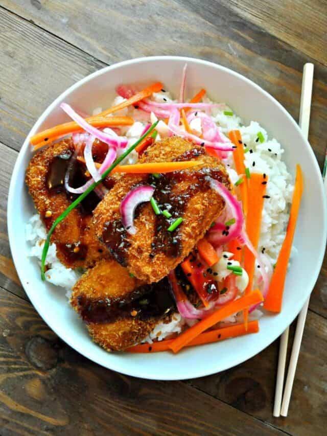 Vegan Tofu Katsu Bowls